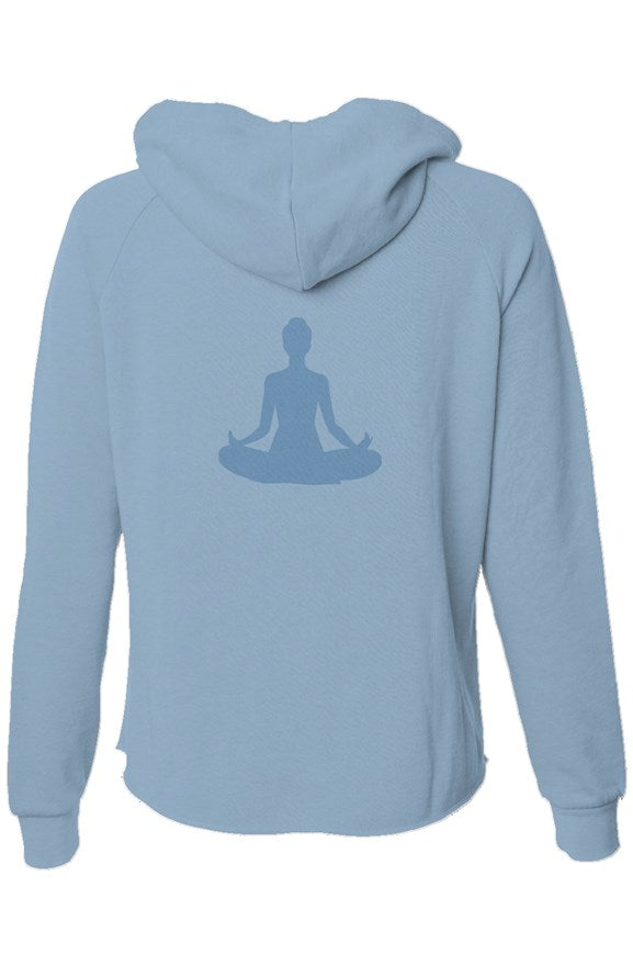 Sukhasana Lightweight Wash Zip Hoodie (Blue)