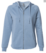Load image into Gallery viewer, Sukhasana Zip Hoodie (Blue)