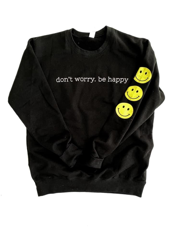 Be Happy, Smiley Crew Neck