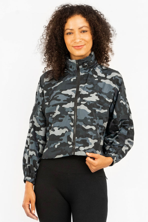 Elevate Camo Windbreaker