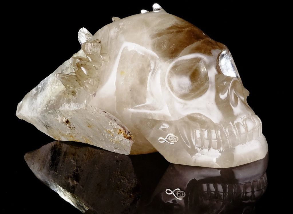 Leandro Designs 50th year anniversary crystal skull