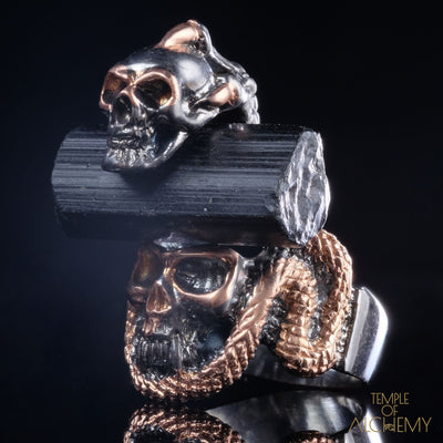 Crystal Skull Ring : Black Tourmaline - jewelry - Temple of Alchemy - 5