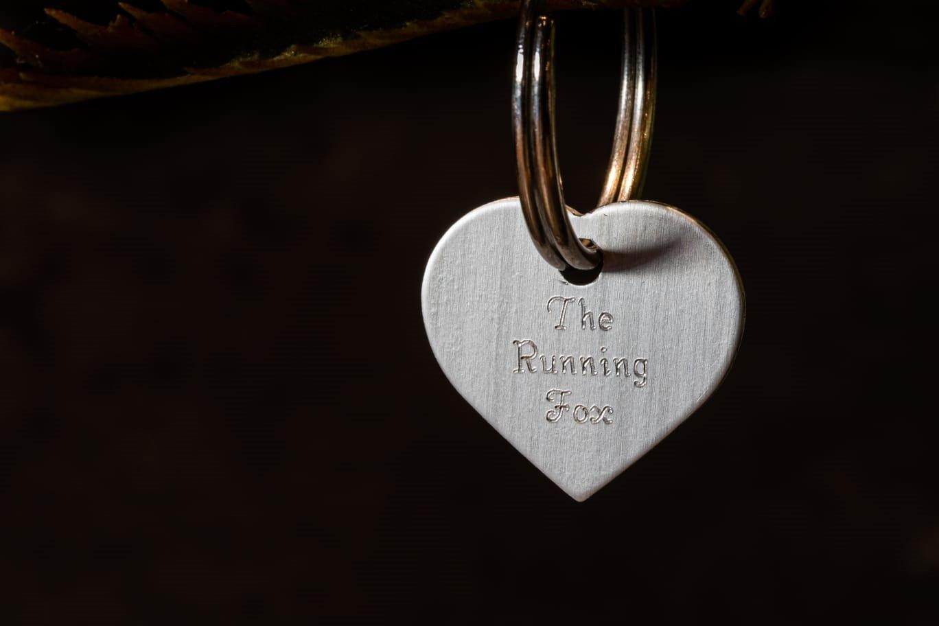 The Running Fox Heart Keyring