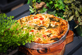 Whole Spinach, Feta, Tomato and Pine Nut Quiche Slice