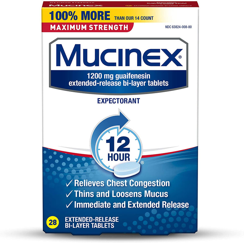 Mucinex 1200 mg, 28 Tablets