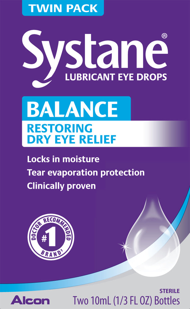 Systane Balance Restorative Formula Lubricant Eye Drops 10ml each