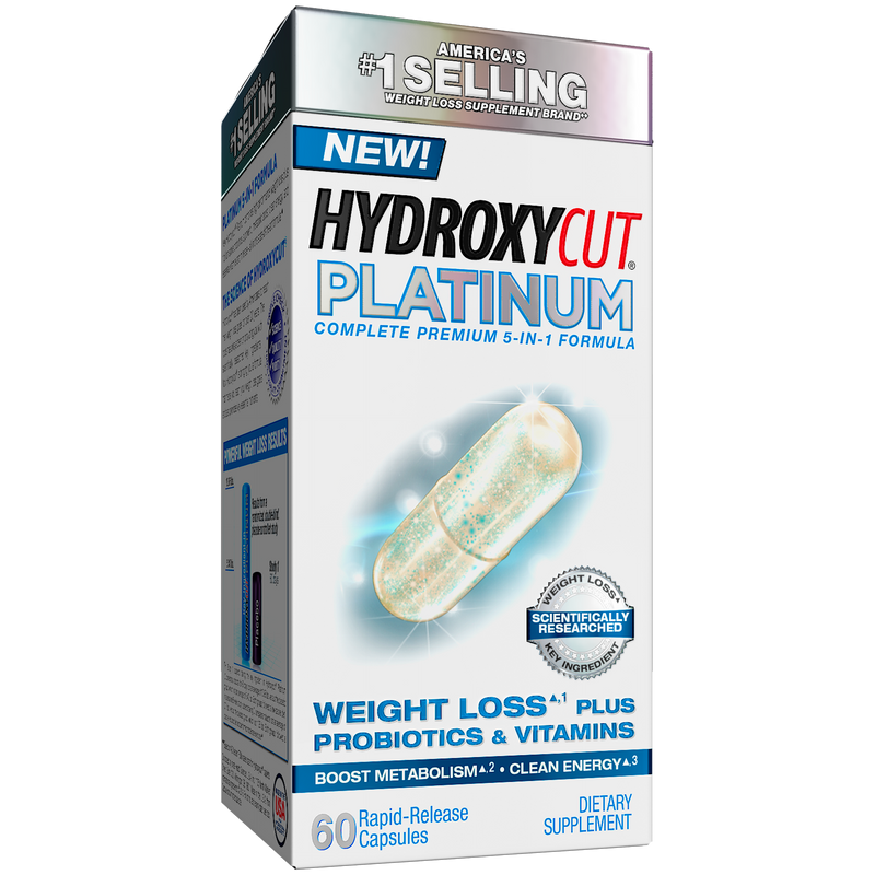 Hydroxycut Platinum Supplements with Active Probiotics & Vitamins