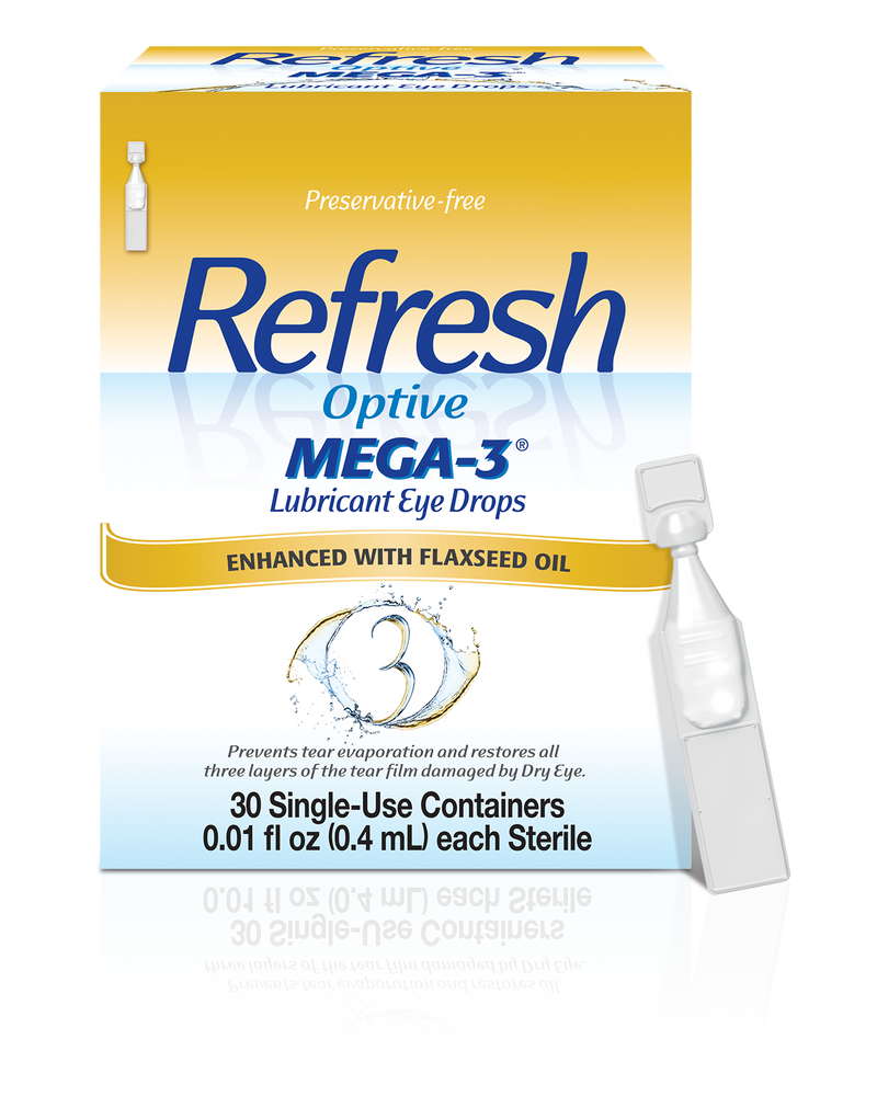 Refresh Optive Mega-3 Lubricant Eye Drops 30 Single