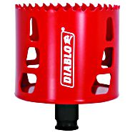 Freud DHS2687 Diablo High Performance Hole Saw Ideal for Drilling Wood, Plastic, Aluminum, Metal and Stainless Steel, 2-11/16-Inch X 2-3/8-Inch, Multi