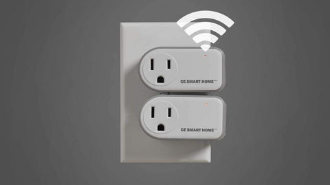 CE SMART HOME, WI-FI Smart Plug (2 switches per pack), work's with Amazon Alexa and Google assistant ANYWERE IN THE WORLD with the app