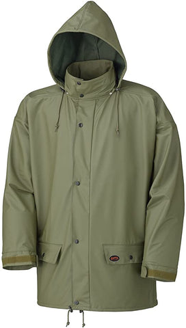 Pioneer V3020140-S Oil-Resistant Lightweight Rain Jacket, Cold Flex 4-way Stretch Fabric, Olive Green, S