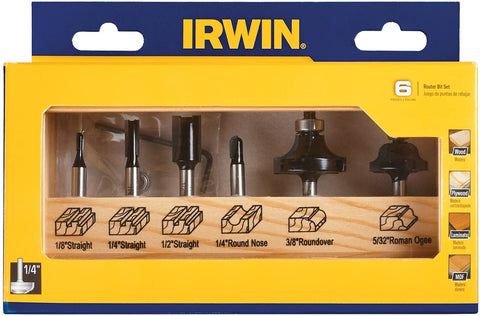 Irwin Tools 1901047 Marples Basic Router Bit Set (6 Piece)