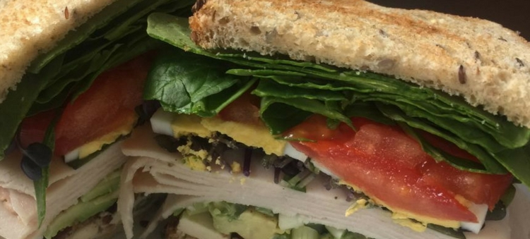 Spinach Cobb Salad Sandwich