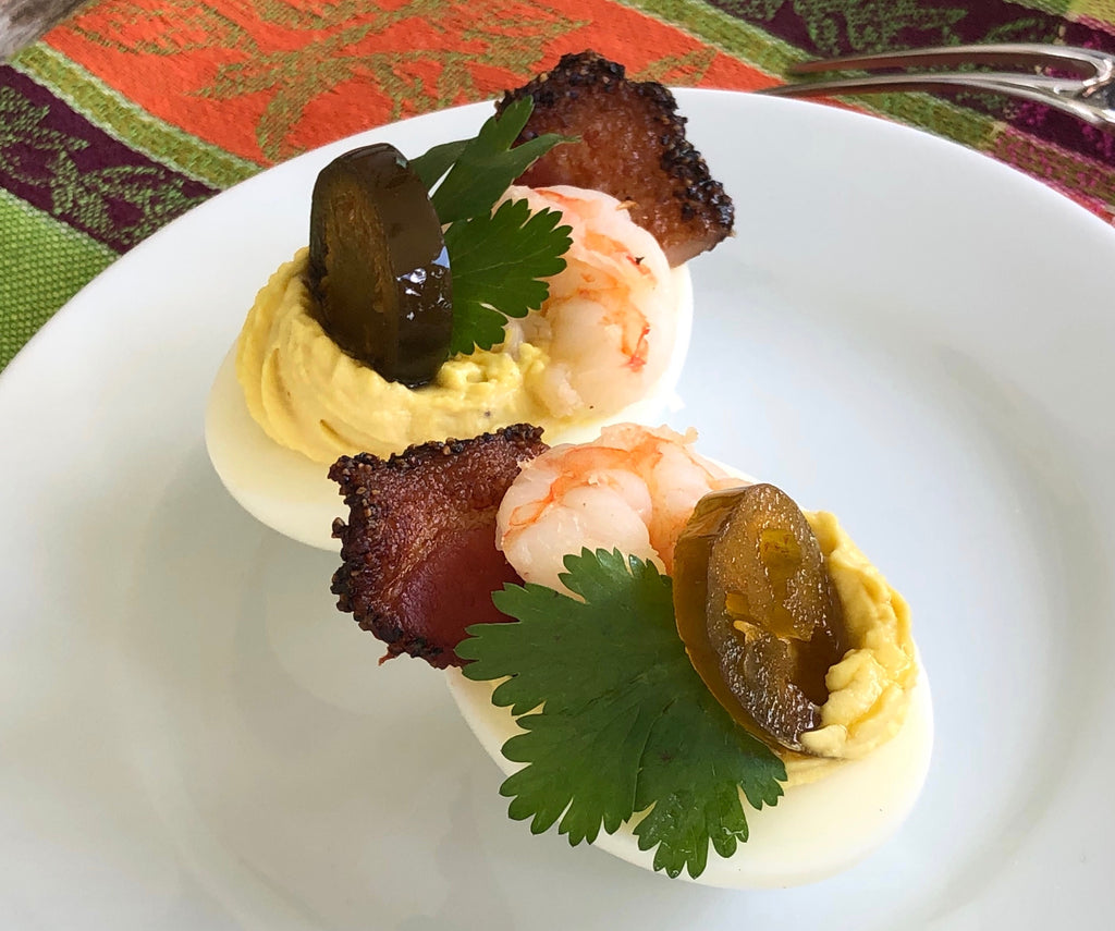 Texas Hold'em Deviled Eggs