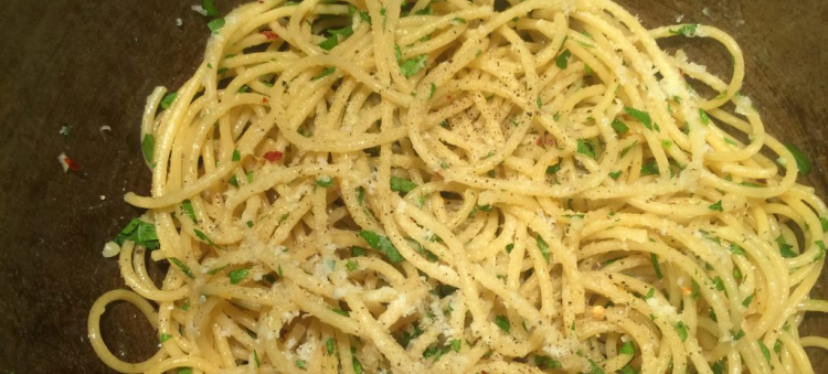 Oily Intestines with Magic Herbs…or EVOO Pasta with Cheese