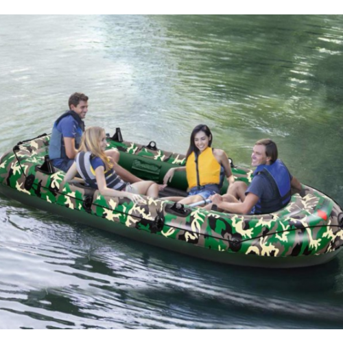 Inflatable Kayak 4-Person 10' Dinghy Fishing Boat