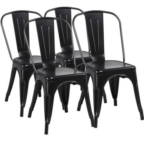 Set of 4 Metal Dining Chairs