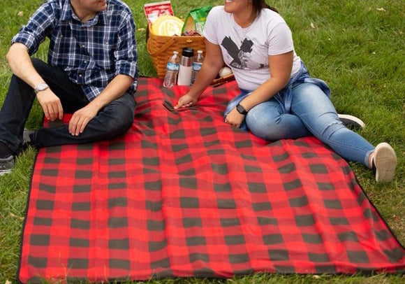 Ozark Trail Waterproof Fleece Picnic Blanket