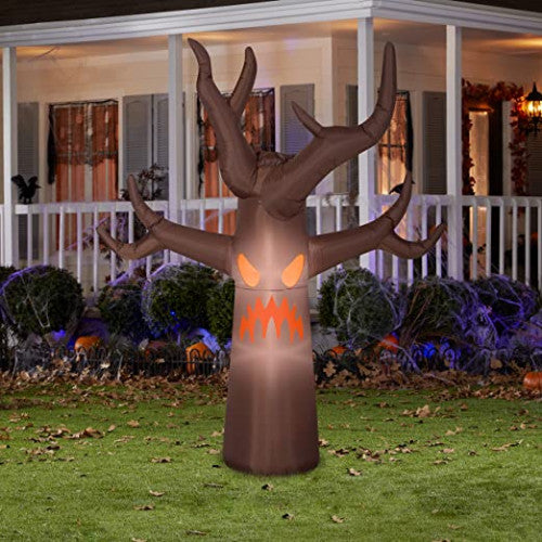 Gemmy 6' Inflatable Haunted Brown Tree w/ Fog Effect