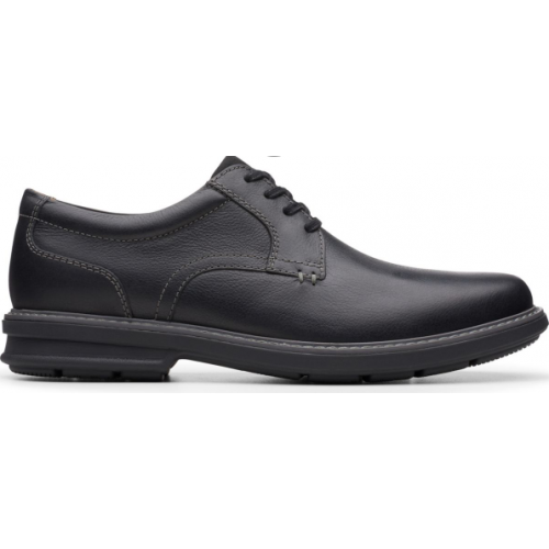 Clarks Men's Rendell Plain Black Leather Shoes