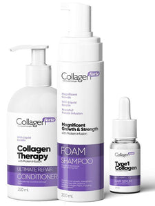 Collagen Forte ™ Hair Set Contains High Levels of Collagen and Keratin - Lujain Beauty