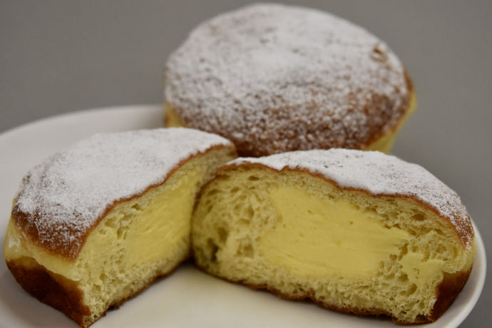 Powdered Sugar Covered with Custard Filling Paczki
