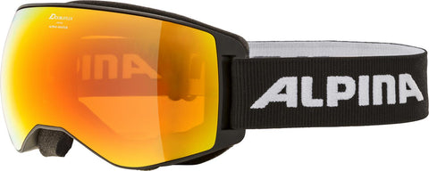 ALPINA NAATOR black HM orange sph. - Skibrille