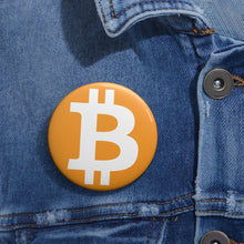 Load image into Gallery viewer, Bitcoin Pin Button