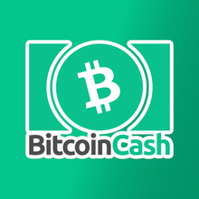 Load image into Gallery viewer, Bitcoin Cash Rectangular Vinyl Sticker