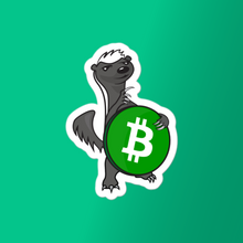 Load image into Gallery viewer, Bitcoin Cash Honey Badger Vinyl Sticker