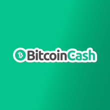 Load image into Gallery viewer, Bitcoin Cash Text Vinyl Sticker