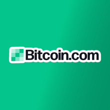 Load image into Gallery viewer, Bitcoin.com Logo Vinyl Sticker