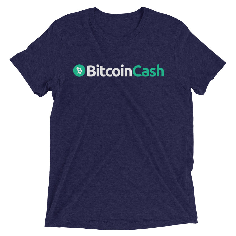 Bitcoin Cash Horizontal Logo Tee (Dark)