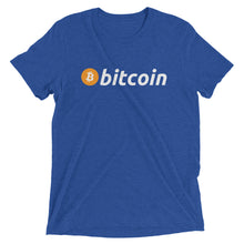 Load image into Gallery viewer, Bitcoin (BTC) Tri-Blend Horizontal Logo Tee