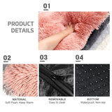 Fluffy Soft Fleece Plush Cushion Mat For Small and Medium Dogs and Cats.  Available in four sizes, and three colours, Pink, Dark Grey and Light Grey.