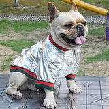 Stunning Lightweight Metallic Bomber Jacket For Small Dogs