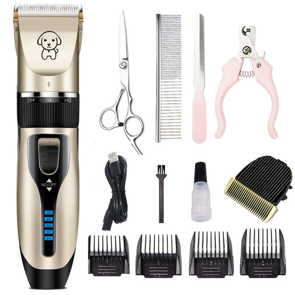 Professional Dog Cat Hair Trimmer Shaver Clipper Low Noise Grooming Tool  Power Source: Rechargeable Battery  Charging Time: 4 Hour  Voltage: 110-240V