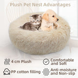 Fluffy Round Warm Plush Super Soft Dog Cat Bed Cushion.  Available in six colours.  Choose sizes from 40cm up to 100cm.