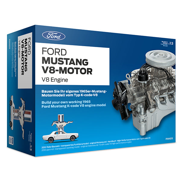 1965 Ford Mustang V8 Model Engine Kit With Collector's Handbook