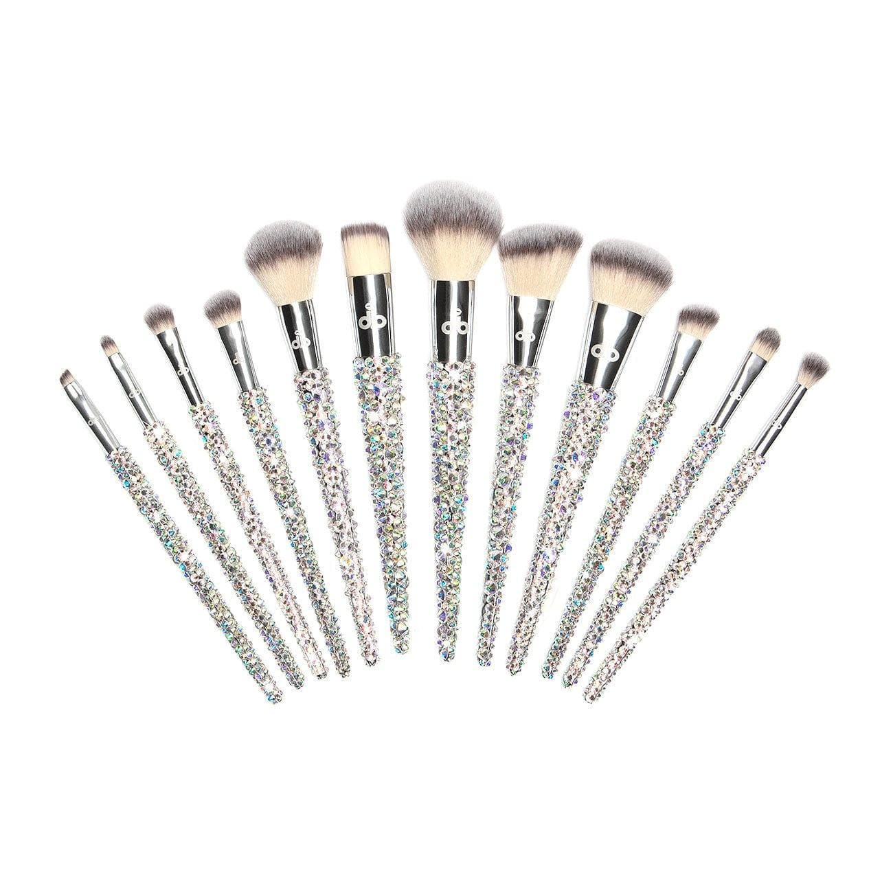 12 Piece Full Brush Set - Crystal