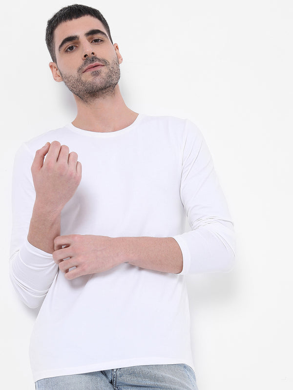 Solid Stretch - White