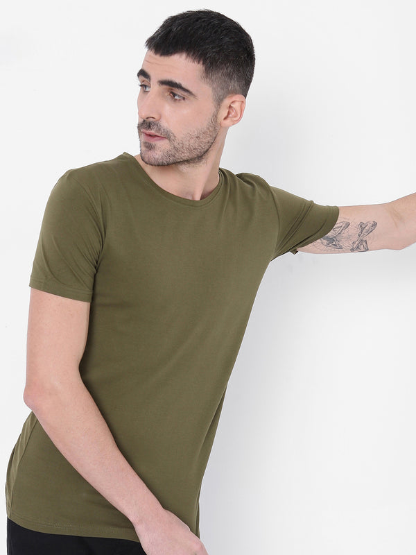 Solid Stretch - Olive Green