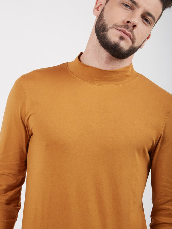 Solid Stretch Turtle Neck