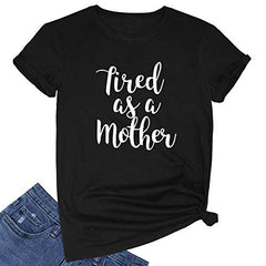 FEDANO Women Cute Graphic T Shirts Teen Girls Summer Funny Tops Black Medium