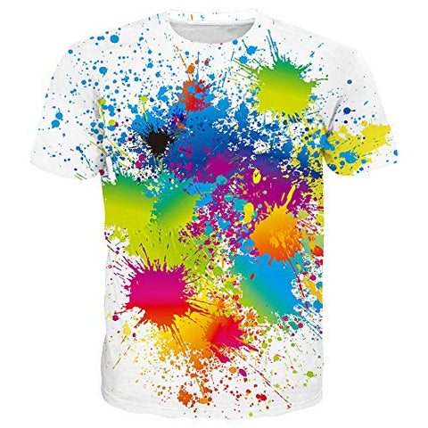 Unisex 3D Pattern Print Short Sleeve T-Shirts Casual Graphics Tees