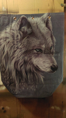 Airbrushed Wolf backpack by bc 4endangered
