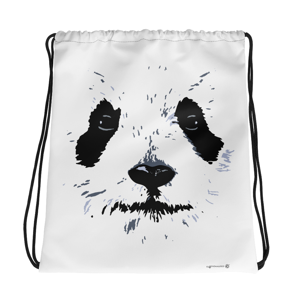 Panda Face Graphic Design Drawstring Backpack/Bag Cute Panda Backpack