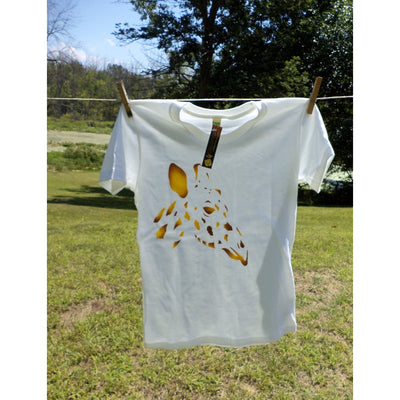 Giraffe T-shirt Airbrushed Minimalist Design Gold And Brown-Airbrushed tshirts-4Endangered