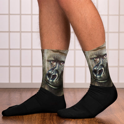 Gorilla Black Foot Socks Animal Socks