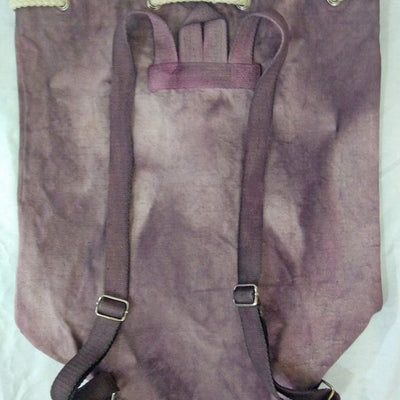 Hand-Dyed Drawstring Backpack Duffel Bag Purple and Charcoal Colors-Hand-dyed Backpack-4Endangered